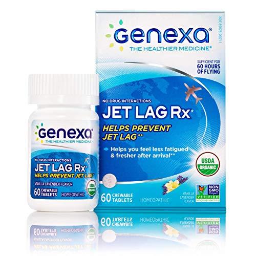 Genexa Jet Lag Rx – 60 Tablets | Certified Organic & Non-GMO, Melatonin-Free, Physician Formulated, Homeopathic | Jet Lag Prevention Formula
