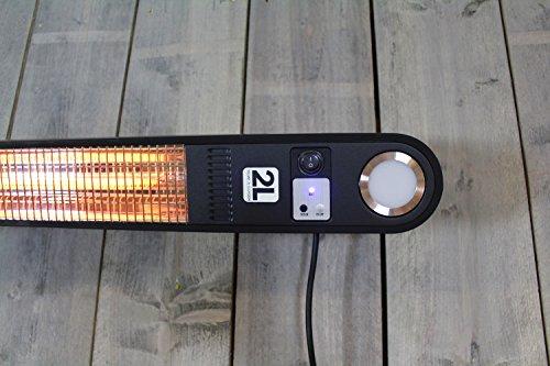 Heizstrahler Elegance mit LED Beleuchtung – 1500 Watt – Schwarz – Deckemontage - 7