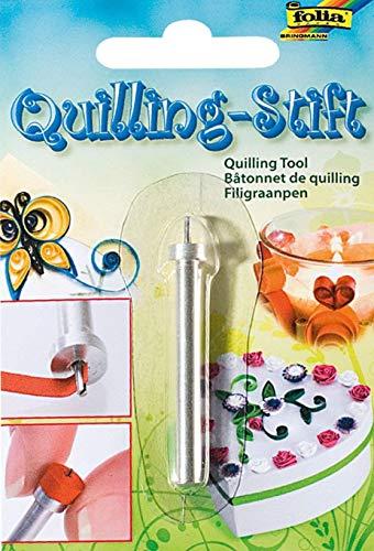 folia 1280 - Quilling Stift, silber, zum schnellen und einfachen Aufdrehen