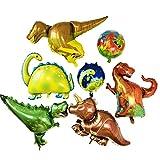 yoliyogo Palloncino Dinosauro x 5 più Pallina Dinosauro x 2.Grandi Palloncini per la Festa e L'allestimento di Negozio. Lo Stile Foresta per Festa di Compleanno Eccetera.Tutto in pallocini Ánimo.