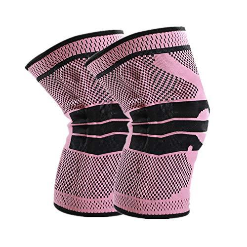 Rodilleras Voleibol Rodillera para Ligamentos Soportes de Rodilla La Artritis de Rodilla Rodillera de Soporte de articulación FLX Soporte de Rodilla Deep Pink,Large