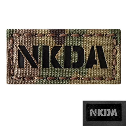 NKDA 1x2 Infrared IR NKA Tactical Morale Hook&Loop Patch