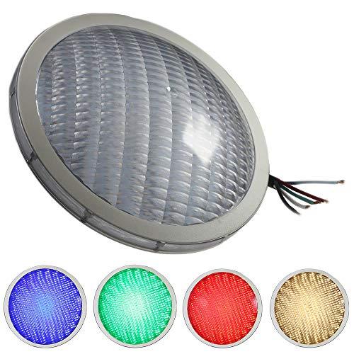 LED TRADING Éclairage de piscine RGB-W PAR56 standard - Remplacement pour 300 W 12 V - Montage pour transformateur optionnel via application ou smartphone (DMX 5 broches 30 W)