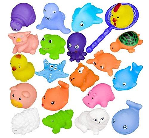 LAN@ 10 Piezas Juguetes De Baño Bebe Patrón Animal Juguetes para Niñas Juguetes Niños para Bañera