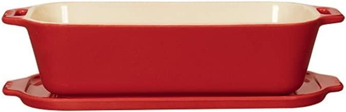 """Staub 40510-803 Ceramics Covered Pate/Terrine Mold, 10"""" x 4.5"""", Cherry"""