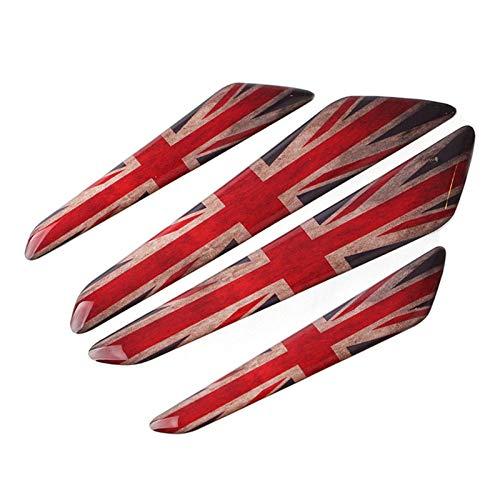 4 Piezas Tira Protección Borde Puerta Coche para M-ini para C-ooper para J-CW para O-ne Protector Goma Universal Anti-colisión (Color : Red Black A)