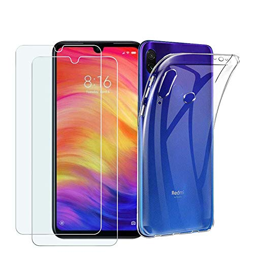 Capa Transparente + 2 Películas de Vidro Temperado Xiaomi REDMI NOTE 7