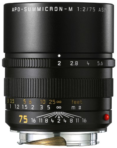 Leica Apo-Summicron-M 75mm f/2 Schwarz - Kameraobjektive (7/5, 0,7 m, 7,5 cm, 1:7, 18°, 27°)