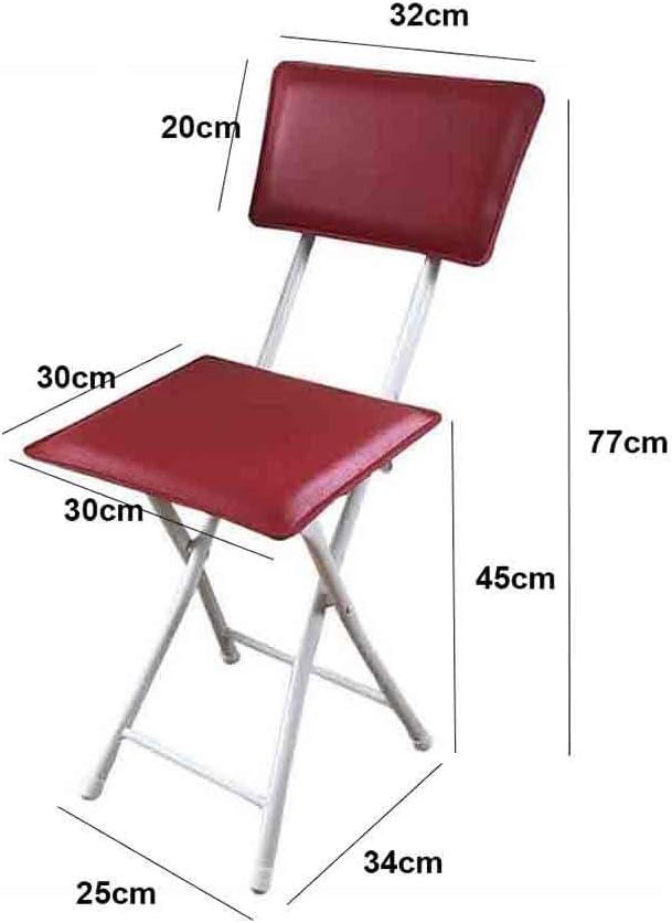 XHCP Chaise Pliante Moderne Simplicité PU Surface Acier Cadre Dossier Ordinateur Chaise De Salle À Manger pour La Maison Et Le Bureau (Couleur: Blanc) Red