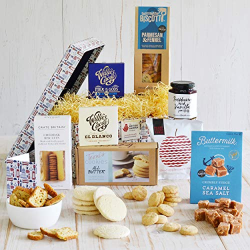 Premium Traditional Food Hamper - Presented in a Special Hamper Gift Box & Hand Tied in Navy Blue Ribbon