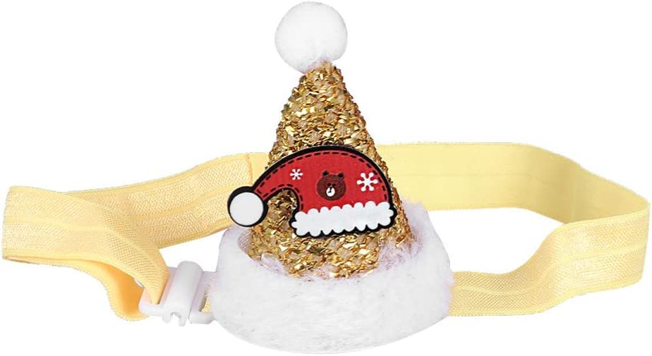 Max 64% OFF GANE Pet Christmas Headband Genuine Hat Elastic Adorable Ch Rope Cat