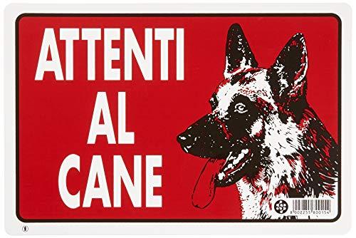 GRUPPO STAMPLAST SPA 1 Cartello in PLASTICA ATTENTI al Cane