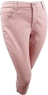 Style & Co. Womens Plus Cuffed Mid-Rise Capri Jeans