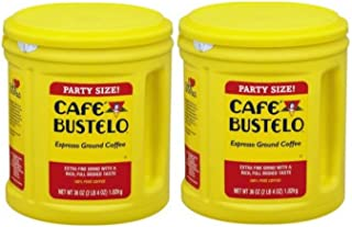 Cafe Bustelo Espresso Ground Coffee Party Size ,36oz (2 PACK)