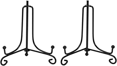 (2 Pack) Iron Display Stand, Black Iron Easel Plate Display Photo Holder Stand, Displays..