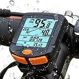 HONGLONG Velocímetro para Bicicletas, Sensor de Movimiento Resistente al Agua, Resistente al Agua IP7 Pantalla, LED, luz de Fondo, en Tiempo Real para el Ciclismo de Velocidad