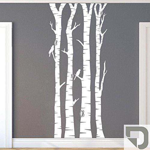 DESIGNSCAPE® Wandtattoo Birkenstämme - Birkenstamm - Birke Stamm 120 cm (Höhe) grau DW804113-S-F6