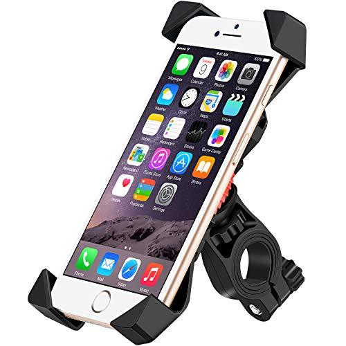 IceFox Fahrrad Handyhalterung, Universal Handyhalterung Fahrrad, Anti-Shake Fahrradhalterung Mit 360 Drehen für 3,5-6,5 Zoll Smartphone,GPS,Andere Geräte