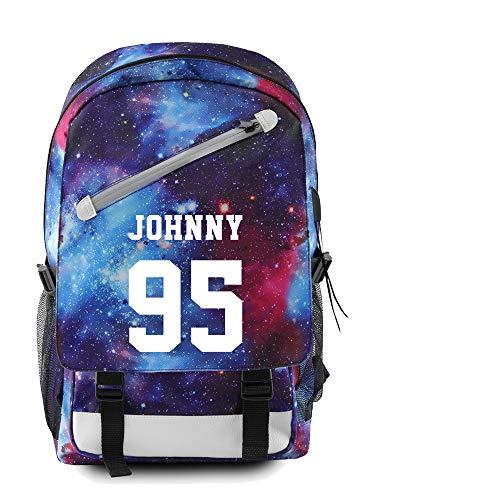 NOCY&ZL NCT Student Schultasche Rucksack Canvas Tasche NCT Traum Rucksack School Daypack für Teen Boys Girls mit USB Ladeanschluss