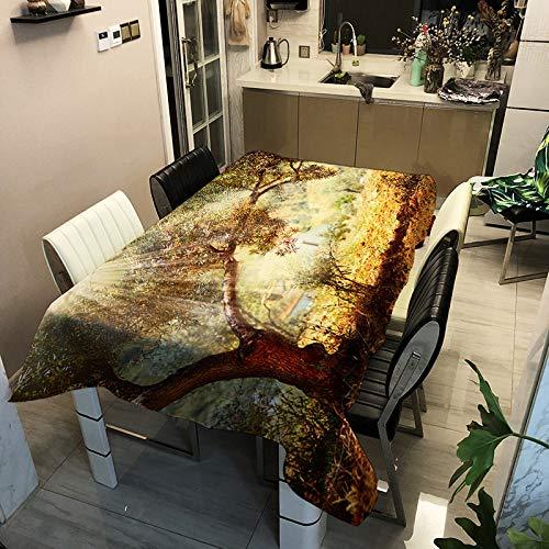QWEASDZX Mantel Simple y Moderno Contaminación de Polvo de algodón y Lino Mantel Rectangular Mantel Reutilizable Multiusos Adecuado para Interiores y Exteriores 100x140cm