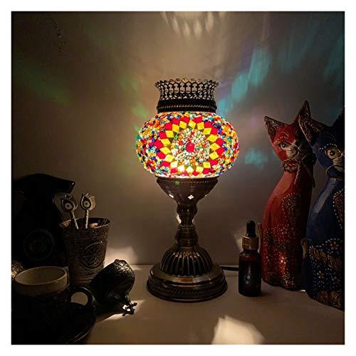 Lámpara de cabecer Lámpara de mesa de aromaterapia Turquía Exótica G4 Bombilla de tungsteno Dormitorio Hotel Restaurante Yoga Club Club Plug-in Lámpara de escritorio de aromaterapia eléctrica Lámparas