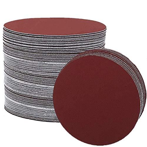 5-Inch NO-Hole Sanding Discs Hook and Loop 1000 1200 1500 2000 3000 Grit Assorted Sandpaper Random Orbital Sander Round Detail Sander Paper (60PCS)