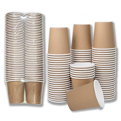 80 X Biodegradables Tazas De Papel Para 250 Ml De Bebidas Ca