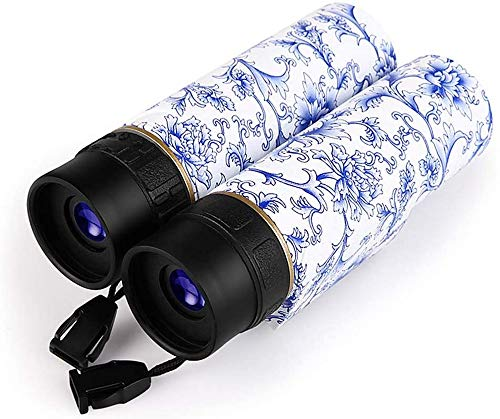 ZHTY Telescopio 10X25 Binocolo Cinese con Stampa in Stile Porcellana Blu e Bianca Telescopio Ottico con Zoom HD con binocolo per telescopio da Campeggio, Escursionismo, Caccia, Birdwatching