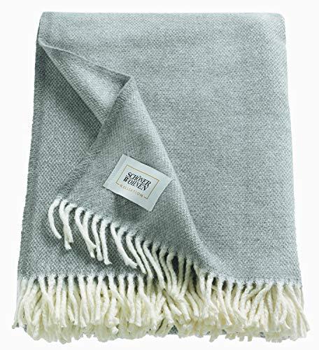Schöner Wohnen Kollektion Tagesdecke 140x200 cm • Kuscheldecke grau • Plaid Decke Relax • Sofadecke Baumwolle