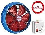 Gebläse Axialventilator Ventilator Lüfter Industrie Abluft Leise ø250 2200m³/h inklusive Drehzahlregler