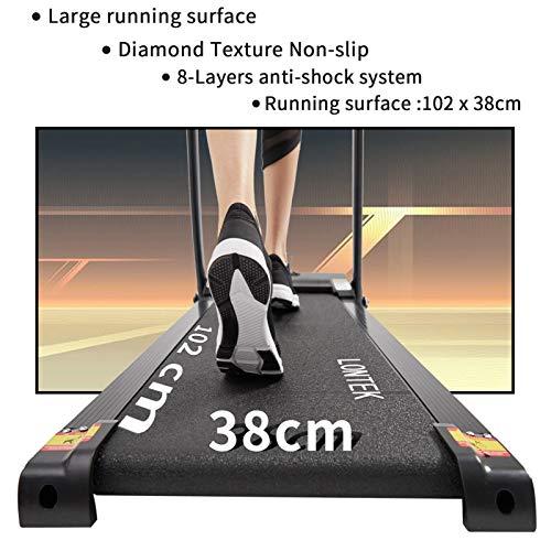 5137o6ix9oL. SL500  - UMAY LONTEK Cinta de Correr Eléctrica Plegable 10km/h, Cinta de Andar con Pantalla LED, Silenciosa Motor 1.5HP, 12 Programas Automáticos y Sensor de Pulso, Fácil de Montar - P5