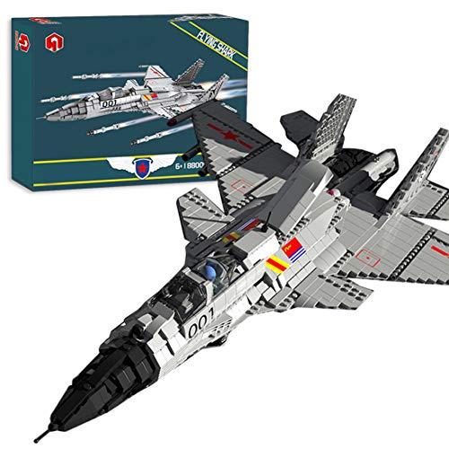 Lommer Technics Aereo J-15 Flying Shark Fighter Building Set, 1999 pz Elicottero Caccia Aerei Militare Modello Kit Aereo Costruzione Blocco Costruzione Set Compatibile con Lego