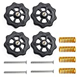 3Dman 4PCS Upgraded Hand Twist Leveling Nut Diameter 40mm + 4PCS Hot Bed Spring Compression+ 4PCS M4X35mm Screws for Creality 3D Printer CR-10 CR-10s Ender 3 Ender 3 Pro Ender 5(4 Set)