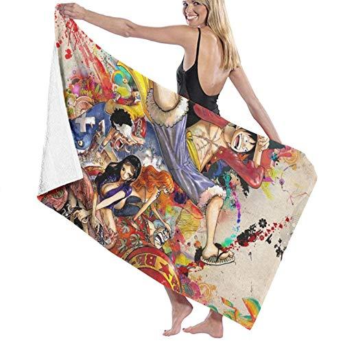 viata sock Una pieza colorido anime secado rápido súper absorbente ligero fino gran gran toalla