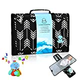 Portable Baby Changing Pad + Octopus Toy Bundle - Large Waterproof Diaper Changing Table Contoured Mattress with Soft Memory Foam Pillow  Travel-Friendly Infant Change Station Mat Set for Mom & Dad