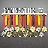 Gymnastics - Medagliere da Parete Femminile - Porta medaglie Ginnastica Artistica Femminile - Sport Medal Hanger - Display Rack (F 450 mm x 80 mm x 3 mm)