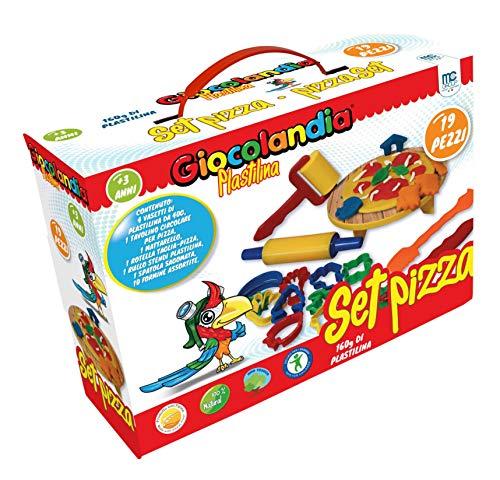 MC SRL Set Pizza plastilina 19 PCS, Multicolore, GL0013