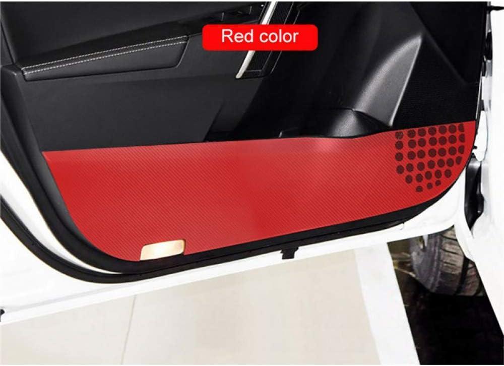LUVCARPB 4 pcs Car Door Direct sale of manufacturer Carbon Sticke Anti Kick Austin Mall Protection Fiber