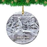 Weekino Stone Mountain Carving Georgia USA Christmas Ornament Travel Souvenir Personalized Christmas Tree Pendant Hanging Decoration
