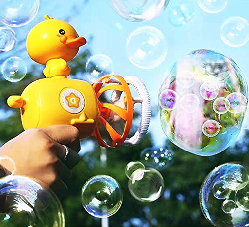 Platypus Magic Bubble Gun & Lightweight Premium Quality Bubble Gun & Detachable Doll &Can be Used as a Small Fan&Outdoor Toy for Kids, Boys, Girls& Best Bubble Toy Gift for Kids.