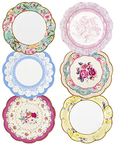 Talking Tables Small Vintage Piastra 20,3 cm 6 Modelli, 12 Pezzi, Multicolore