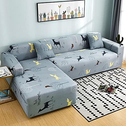 Funda de sofá elástica, Utilizada para la decoración de la Sala de Estar, Funda de sofá de impresión, Suave, Universal, Funda elástica de sección Transversal A20, 1 Plaza