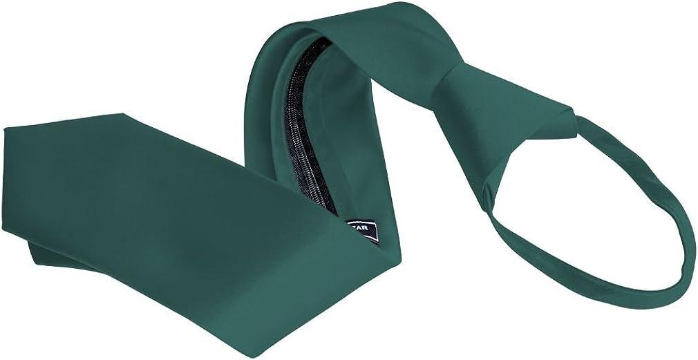 Men's Zipper Tie by Romario Manzini Neckwear Collection - Teal Green