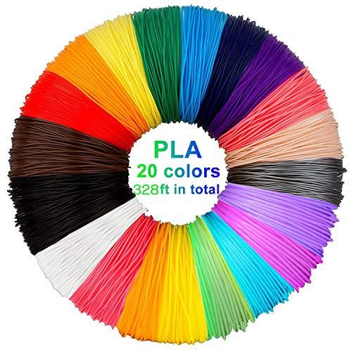 3D Pen Filament 3D Pen Printer Filament Vullingen PCL 1,75 mm Hoge kwaliteit 3D Printing Pen Filament (20 kleuren, elke kleur 16ft)