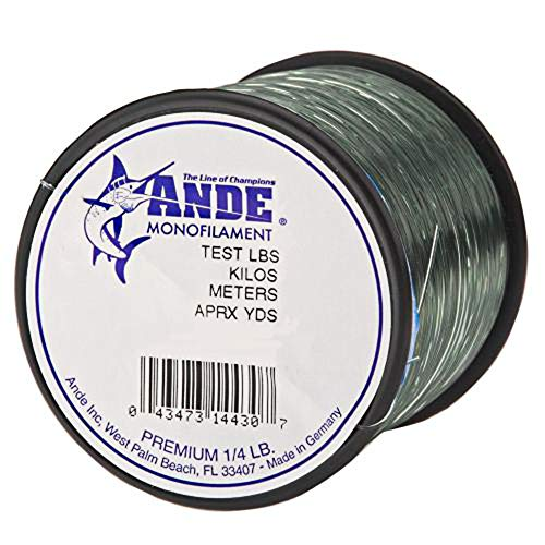 Ande A14-30G Premium Monofilament Fishing Line, 1/4-Pound Spool, 30-Pound Test, Green Finish