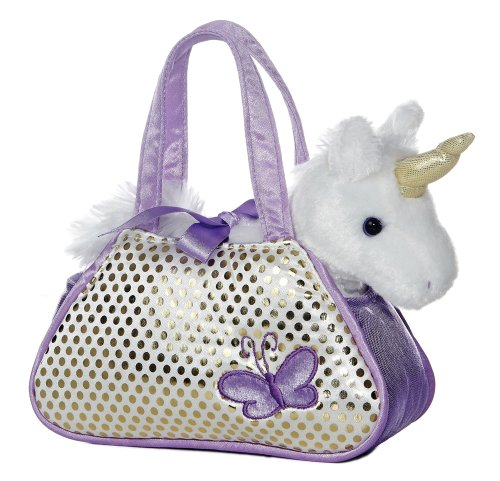 Aurora Unicorn Fancy Pals Purse with 8″ Unicorn