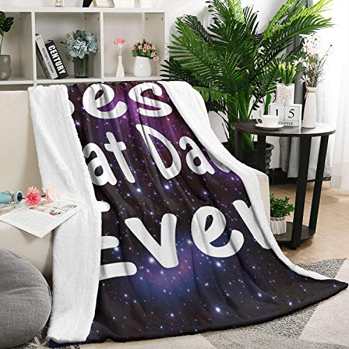 """LHSCVJSEKL 59""""x79"""" Best Cat Dad Ever Flannel Fleece Blanket Ultra Soft Blanket Warm Blanket Throw Blanket Bed Couch Chair for All Season"""
