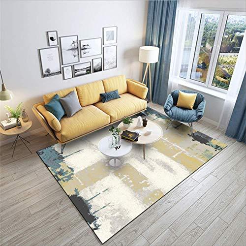 KCMDA Carpet Pad Carpet Non-Slip Square Carpet Abstract Art Nordic Style Carpet Carpet Mechanical Water Wash Carpet Children'S Room Soft Mats/80X160 Cm (2.6X5.2 Ft)