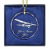 LaserGram Christmas Ornament, High Wing Airplane,...