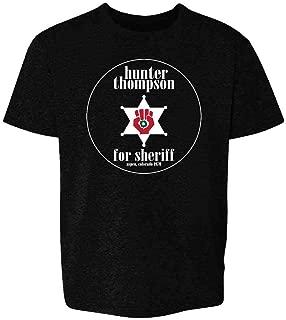Hunter S Thompson for Sheriff Books Funny Costume Youth Kids Girl Boy T-Shirt